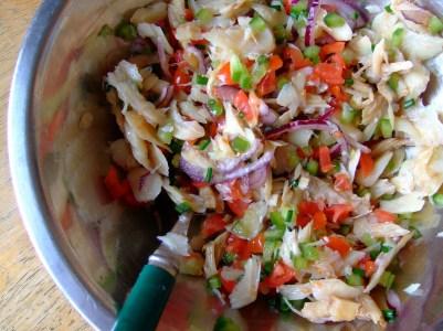 Grenadian saltfish souse